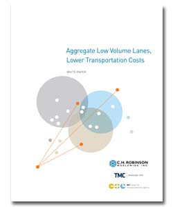 <p>Research by students at the Massachusetts Institute of Technology showed that shippers who aggregated low volume lanes acquired favorable pricing. See how aggregating lanes and contract pricing can save shippers up to 15 percent.</p>