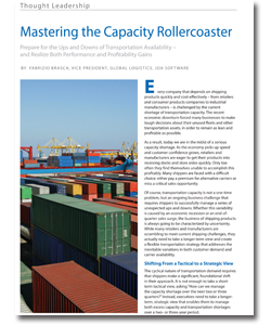 <p>Transportation capacity is an ongoing business challenge that requires shippers to successfully manage uncertainty and the unexpected when shipping products. While many retailers and manufacturers are scrambling to meet current shipping challenges, they actually need to take a longer-term view and create a flexible transportation strategy that addresses the inevitable variations in both customer demand and carrier availability.</p>