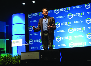 <p>Peter Diamandis, chairman and CEO of the EXPIZE Foundation, during Monday's keynote address</p>