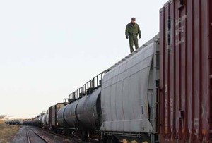<p>Border Patrol Agents routinely conduct searches of trains entering the U.S. from Canada.</p>