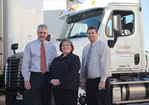<p>Left to right: Jerry Kemper, general manager of transportation; Cheryl Bailey , transportation logistics manager; Brian Turner, director of transportation and planning.</p>
