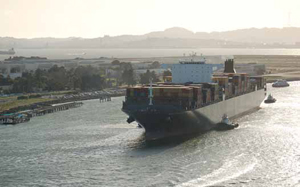 "<p>The ""mega-vessel"" MSC Fabiola, a 12,562 (TEU) vessel owned by Mediterranean Shipping Co came steaming into the San Francisco Bay early this year.</p>"