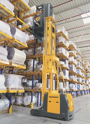 <p>But whether a new facility houses standard wide aisles with sit-down counterbalanced forklifts, narrow aisles with reach trucks, or VNA with turret trucks and order pickers, vertical space is always preferable to more square footage.</p>