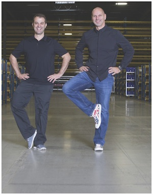<p>George Tsogas, vice president of international distribution and logistics (left) and Steve  Berube, senior vice president of global distribution and logistics.</p>