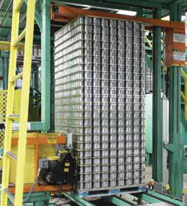 <p>Economic and eco-friendly, strapping unitizes a load with a minimal amount of materials. Once these cans are delivered to a beverage manufacturer, the straps are removed, put into a chopper and sold to a recycler.</p>