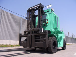 <p>Heavy-duty radiation shielded forklift from Mitsubishi</p>