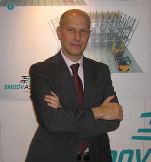 <p>Giovanni Noto, business development director for Smoov ASRV, introduced a new concept in automated storage at Modex.</p>