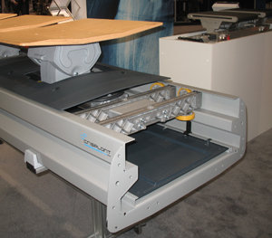 <p>Crisplant, a tilt-tray sorter, relaunched by the Beumer Group</p>