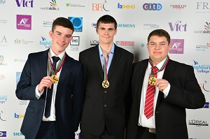 <p>The winning CMB Engineering team is made up of Chris Renwick, Patrick Devanney and Dominic Trees.</p>