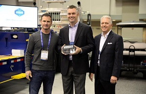 <p>Left to right: United Rentals' director, equipment sourcing T.J. Mahoney; TMHU's national account manager for United Rentals Bryan Boyer; TMHU's president Jeff Rufener.</p>