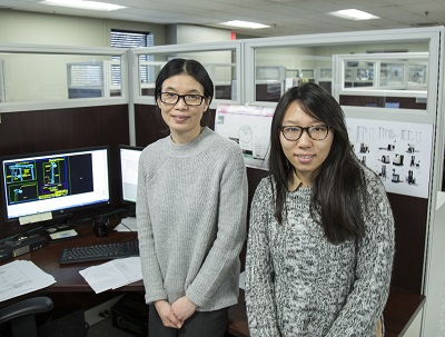 <p>Danni Shan-Shan, an engineer for UCA, and Huiqin Ding-Ding, a finite element analysis engineer for UCA.</p>
