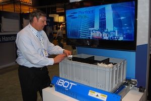 <p> David Stevens, president and CEO with an iBOT unit.</p>
