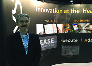 <p>Robert Colosino, VP of marketing at Tecsys displays OneSprint, a single solution warehouse management system (WMS).</p>