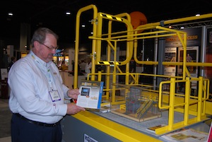 <p>Hue Schlegel, director of marketing for Wildeck, showcases the company&#8217;s range of mezzanines, lifts, guards, ladders, stairways and gates.</p>