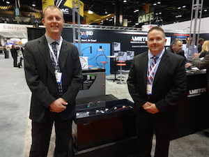 <p>Left, Matt Bridge, Director of Engineering and Right, Jim Lichtenberg, with the TruBID product.</p>