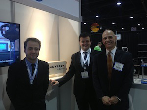 <p>Baptiste Mauget, Marketing &amp; Communications Manager; Raul Bravo, president; and Jean-Marie Bergeal, CEO.</p>