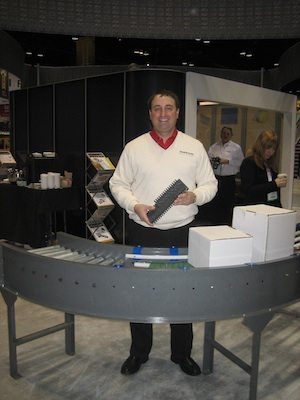 <p>Emerson Industrial Automation's heavy duty modular plastic belts can be easily retrofitted into existing conveyor frames, said Matt Stoneburner, director of marketing, material handling.</p>