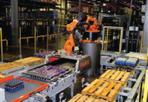 <p>Using an articulated arm and end effector that performs a pick-and-place action, robotic layer palletizers are capable of building multiple pallets at one time.</p>