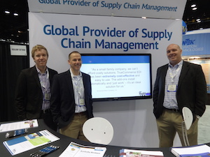 <p>From left: Dane Johnson, Account Manager; Chuck Fuerst, Director of Product Strategy; Scott Alton, SE Acct Manager and WMS Hardware Sales</p>