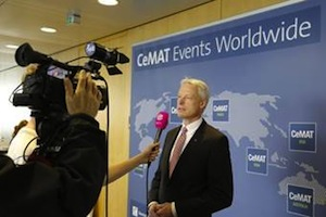 <p>Andreas Gruchow, member of the managing board at Deutsche Messe AG, announced CeMAT Australia on the CeMAT press conference on May 7, 2014 in Hannover, Germany.</p>