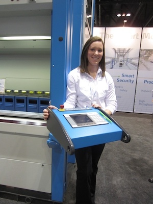 <p>Chelsea Tarr, marketing communications coordinator, introduced two new technologies to improve order picking in the company's Megamat RS vertical carousel and Shuttle vertical lift module (VLM).</p>