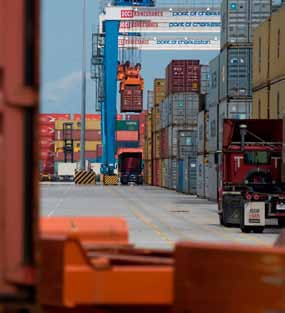<p>More evidence of a greening dockside trend emerged late last year when The Georgia Ports Authority (GPA) unveiled its first four electrified rubber-tired gantry cranes (ERTG).</p>