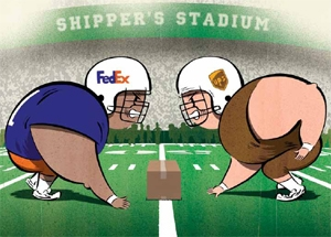 <p>FedEx and UPS will remain the two main players in the U.S. parcel and express market.<br /> <i>Drawing: Ryan Snook</i></p>