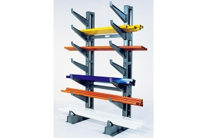 Button-On cantilever storage rack