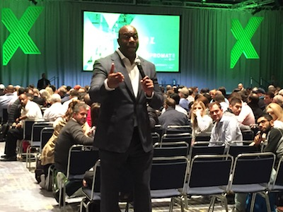"<p>Earvin ""Magic"" Johnson told a packed auditorium at ProMat 2017 that his athletic accomplishments were nothing compared to the success of his employees and scholarship recipients</p>"