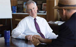 <p>Governor Graves discusses his life in trucking with <i>Logistics Management</i>'s John Schulz late last month.</p>