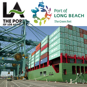 <p>The Port of Los Angeles adjoins the separate Port  of Long Beach, employs over 16000 people, and is the busiest container port in the United States. <i>Photo courtesy of Port of Los Angeles</i></p>