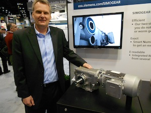 <p>Doug Keith, president of Siemens Drive Technologies Division, said with strong growth for manufacturing expected in North America over the next several years, companies will be looking to install new conveyor systems or upgrade existing ones, and will need efficient motors that are easy to deploy and maintain.</p>