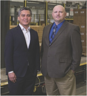 <p>Erik Rodriguez, director of supply chain (left) and Jonathan Hart, director of physical flows (right).</p>