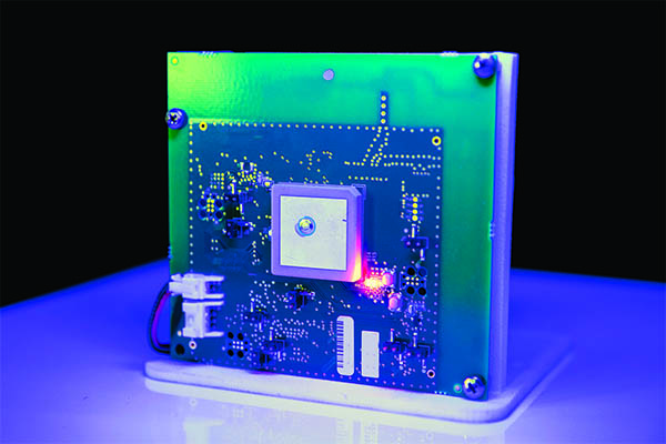 <p>The BlueHound asset tracker device, which has its own battery pack, is placed inside a pallet to analyze movement of assets associated to the pallet with a Cloud-based system.</p>