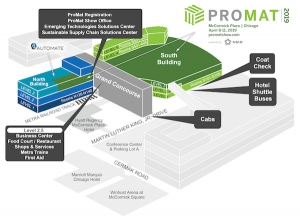 ProMat 2019: Get the lay of the land with a show map