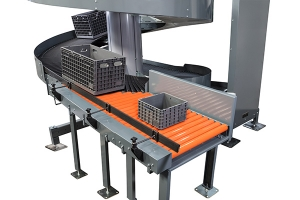 Wide Trak Spiral Conveyor can handle larger load sizes and reach higher elevations