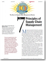 The 7 Principles of Supply Chain Management - Supply Chain